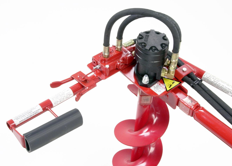 Hydraulic earth drill throttle