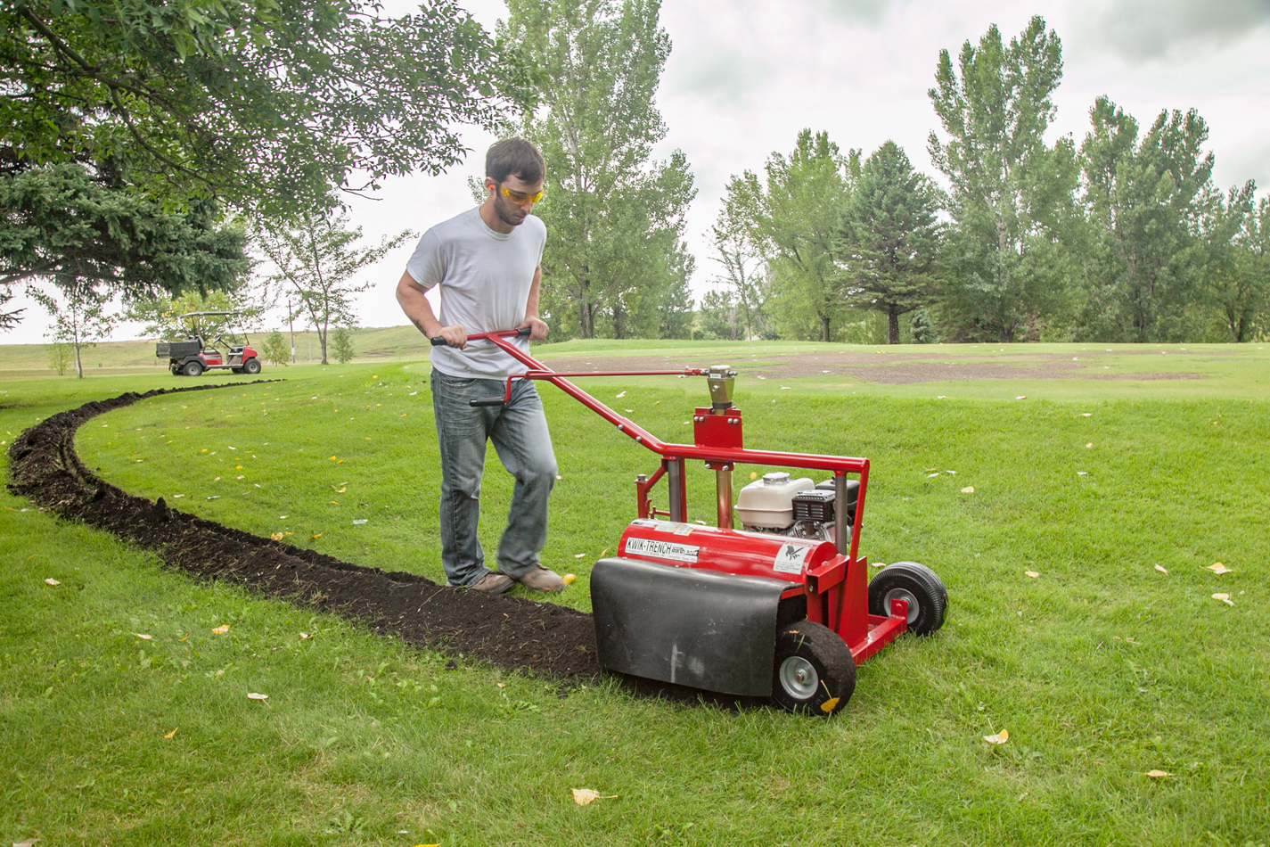 Rental centers demand for Kwik-Trench mini-trenchers